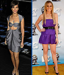 Kidzworld's picks for worst dressed are Rihanna and Lindsay Lohan!