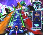 Take Amplitude online with your Playstation 2 and duel other players on the internet!