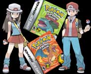 Collect 'em all with the wireless Pokemon fun of Pokemon FireRed and Pokemon LeafGreen for the GBA!