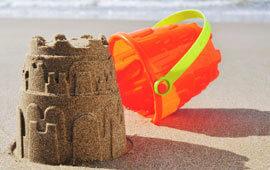 Sand castle ocean poll