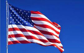 American flag poll