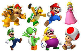 Super mario bros characters poll