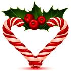 Christmas heart cane poll