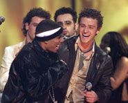 Justin Timberlake and Nelly. Courtesy of Fox.